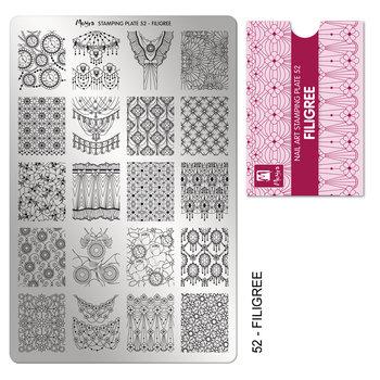 Moyra Stamping Plaat 52 Filigree
