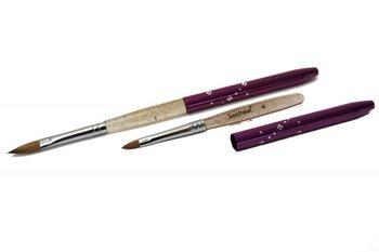 Metoe Kolinsky nail art penseel paars nummer 8