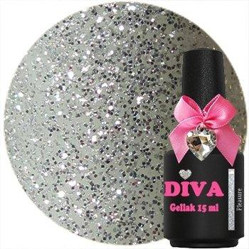 Diva gel lak Pleasure Silver 15 ml