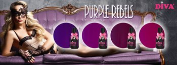 Diva Gelpolish Purple Rebels incl glitter Purple Madness