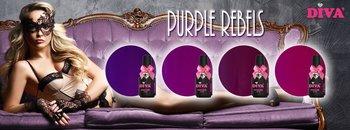 Diva Gelpolish Purple Rebels incl glitter Purple Madness